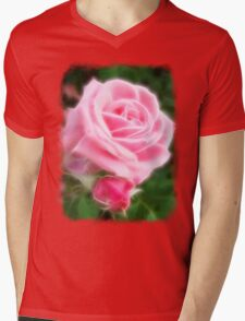 Pink Roses in Anzures 2 Angelic Mens V-Neck T-Shirt