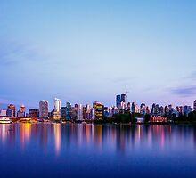 Vancouver City Skyline at Dusk by heyengel