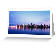Vancouver City Skyline at Dusk Greeting Card