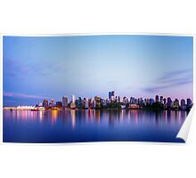 Vancouver City Skyline at Dusk Poster