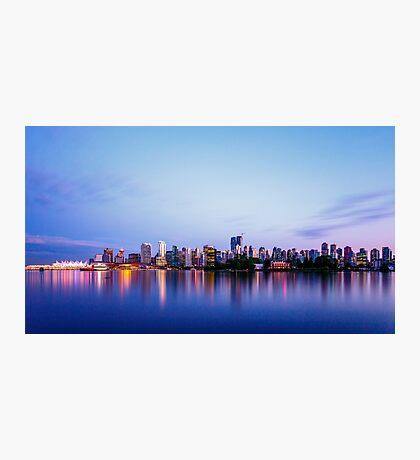 Vancouver City Skyline at Dusk Photographic Print