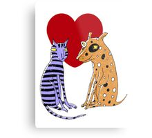 Opposites Attract Metal Print