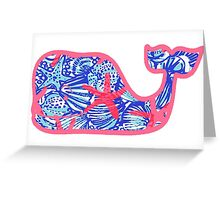 Lily Pulitzer She Shells Whale Greeting Card