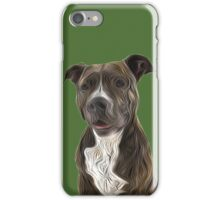 Pit Bull Terrier Oil Painting Style iPhone Case/Skin