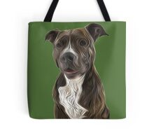 Pit Bull Terrier Oil Painting Style Tote Bag