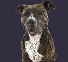 Pit Bull Terrier Oil Painting Style T-Shirt