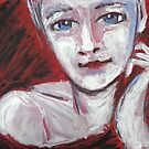 Blue Eyes - Portrait Of A Woman by CarmenT