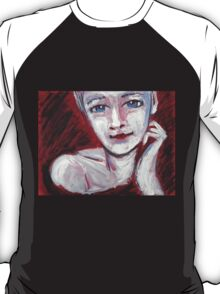 Blue Eyes - Portrait Of A Woman T-Shirt