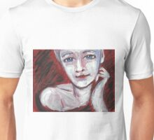 Blue Eyes - Portrait Of A Woman Unisex T-Shirt