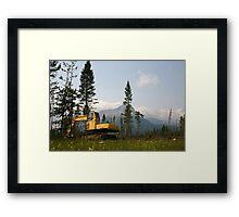 Logging Equipment Framed Print