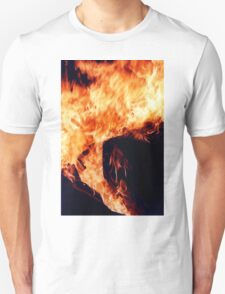 Who tends the fire..Who keeps the torches lit..Who fills your eyes with smoke..So you can't see..I have seen the fires burning..I have watched the tides a-turning and they go from dark to light   Unisex T-Shirt