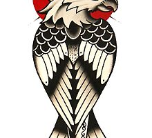 Traditional American eagle with a dagger by Chris Henry