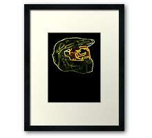 Neon Halo Framed Print