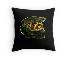 Neon Halo Throw Pillow