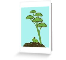 Frog Prince under a tree Greeting Card