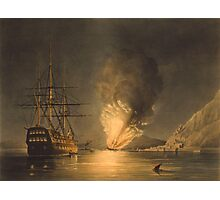 Explosion Of The USS Steam Frigate Missouri Photographic Print
