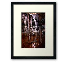"""Lilydale Falls, bottom"" Framed Print"