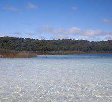 View Across Lake Birrabean, Fraser Island by smallan