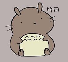 Totoro Hamster by Jody Rosenbeck
