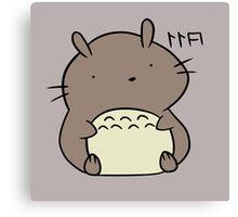 Totoro Hamster Canvas Print