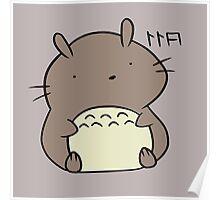 Totoro Hamster Poster