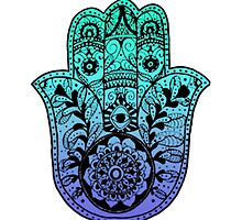 Blue Ombre Hamsa by foreversarahx