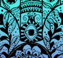 Blue Ombre Hamsa Sticker
