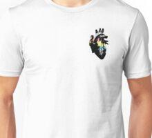 Demiflux Pride Heart (with black detail) Unisex T-Shirt