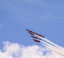 Red Arrows by Yvonne Kirk