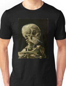 Vincent Van Gogh smoking skeleton Unisex T-Shirt