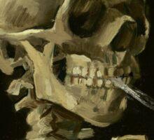 Vincent Van Gogh smoking skeleton Sticker