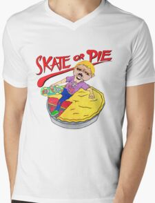 Skate Or Pie! Mens V-Neck T-Shirt