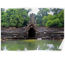 Waters of Neak Pean - Angkor, Cambodia. Poster