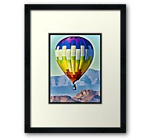Balloon Over The Desert Framed Print