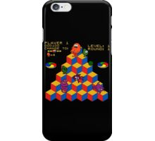Q*Bert - Video Game, Gamer, Qbert, Orange, Black, Nerd, Geek, Geekery, Nerdy iPhone Case/Skin