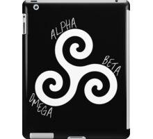 Alpha   Beta   Omega Inverse iPad Case/Skin