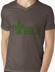 0118 I Love Kansas City  Mens V-Neck T-Shirt
