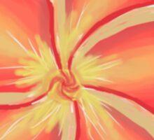 Orange Plumeria Flower Sticker