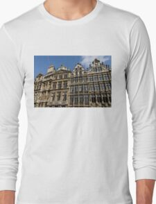 Postcard from Brussels - Grand Place Facades Long Sleeve T-Shirt