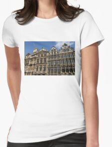 Postcard from Brussels - Grand Place Facades Womens Fitted T-Shirt