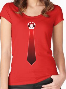 Mario Mushroom Tie Tee Women's Fitted Scoop T-Shirt
