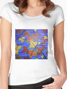 Bright Leaves Women's Fitted Scoop T-Shirt