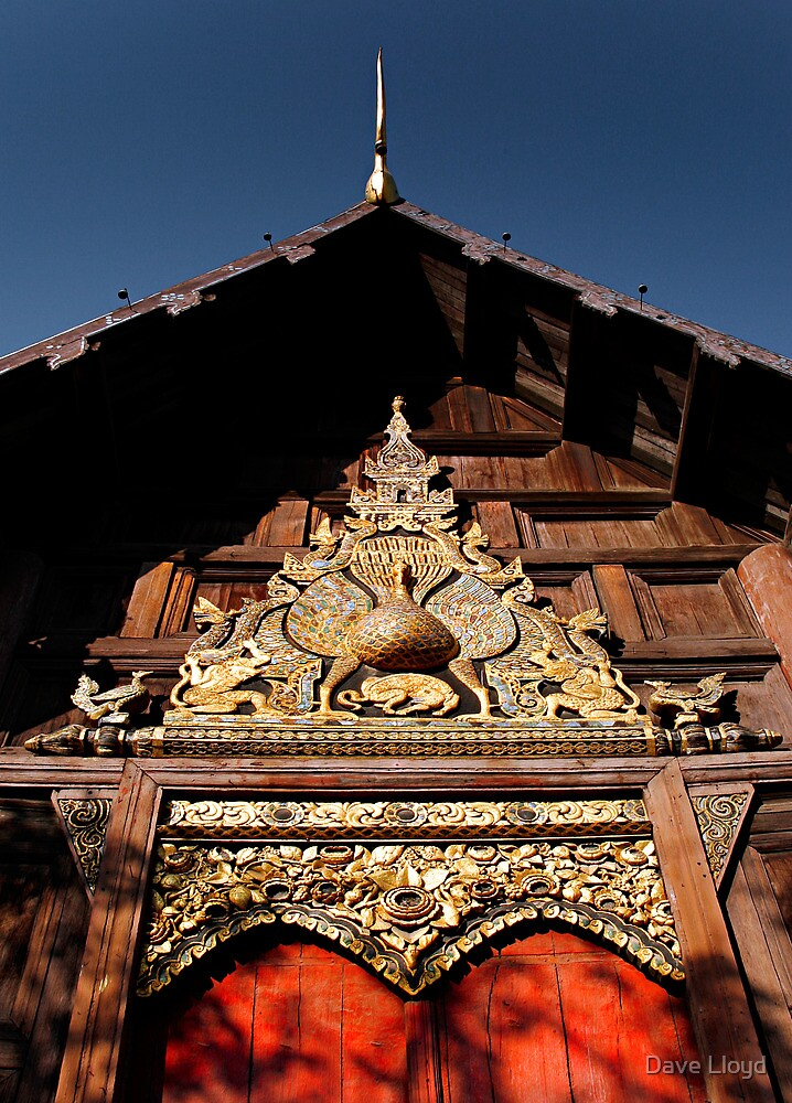 Ornate Temple Gable by Dave Lloyd
