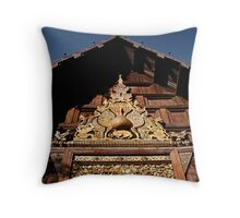 Ornate Temple Gable Throw Pillow