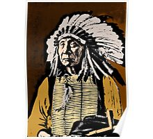 CHIEF RED CLOUD-COLOUR Poster