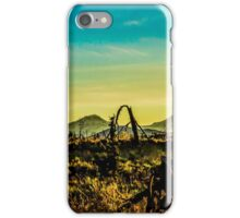 Three Sisters Mountains at golden hour  iPhone Case/Skin