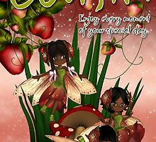 Cousin Birthday Card With Cute Little African Fairys by Moonlake