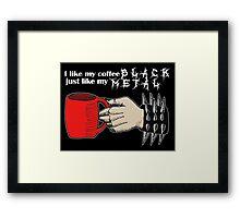 Black Metal Coffee Framed Print