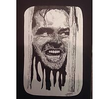Jack Nicholson The Shining Here's Johnny by PeppermintInk