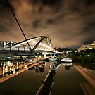 Goodwill Bridge at Night by May-Le Ng